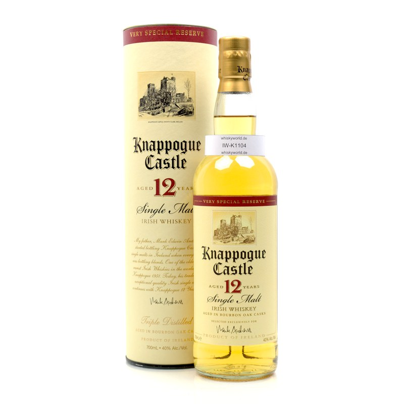 Knappogue 12 Jahre Single Malt 0,70 L/ 40.00%