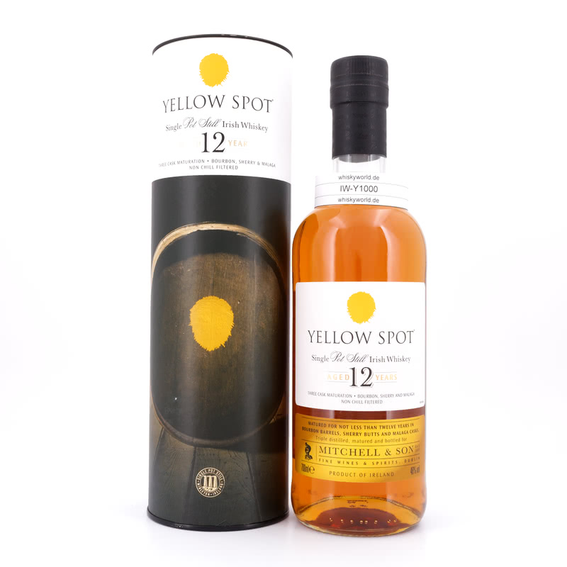 Yellow Spot Single Pot Still Irish Whiskey Three Cask Maturation Bourbon, 0,70 L/ 46.00%