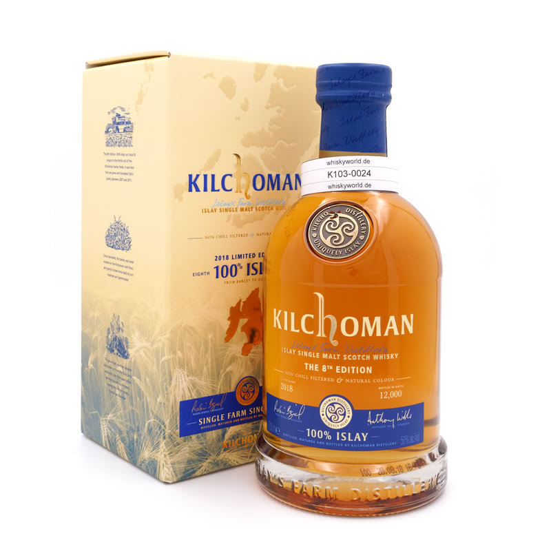 Kilchoman 100% Islay 8th Edition 0,70 L/ 50.00%