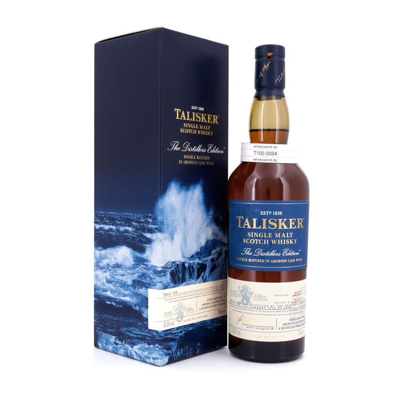 Talisker Distillers Edition Amoroso Cask Wood finish Jahrgang 2008 0,70 L/ 45.80%