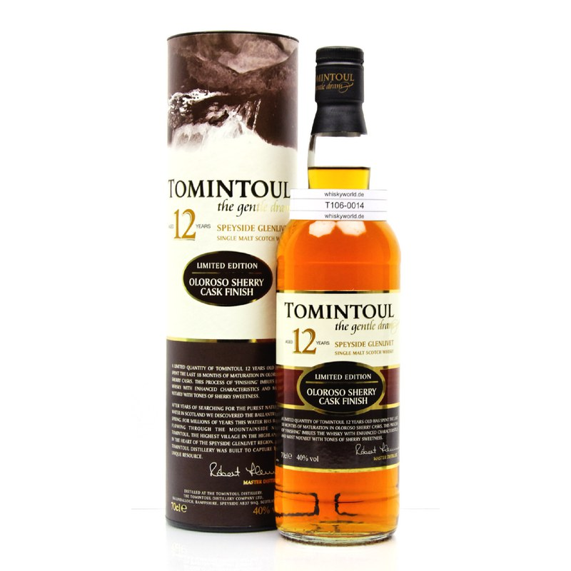 Tomintoul 12 Jahre Sherry finish 0,70 L/ 40.00%
