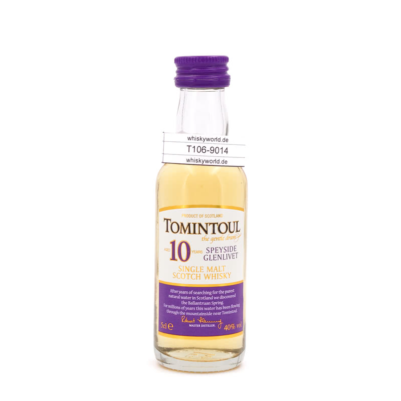 10 Jahre the gentle dram Miniatur 0,050 L/ 40.00%