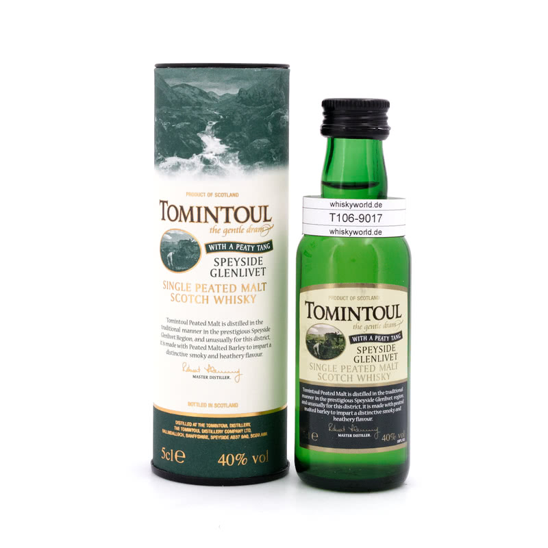 With a Peaty Tang Miniatur 0,050 L/ 40.00%