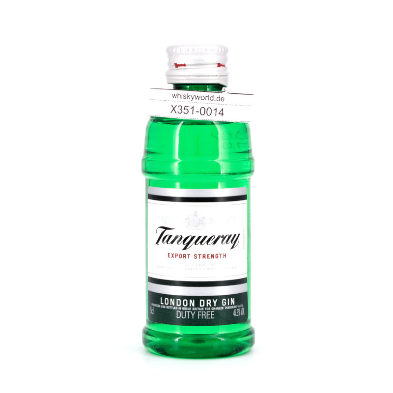Tanqueray London Dry Gin Export Strength Miniatur (PET-Flasche) 0,050 L/ 47.30%