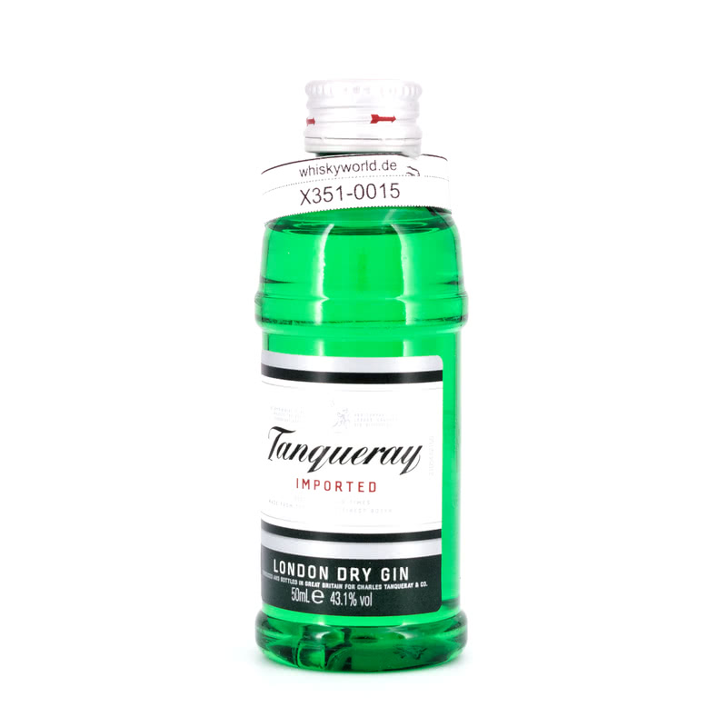 Tanqueray London Dry Gin Imported Miniatur (PET-Flasche) 0,050 L/ 43.10%