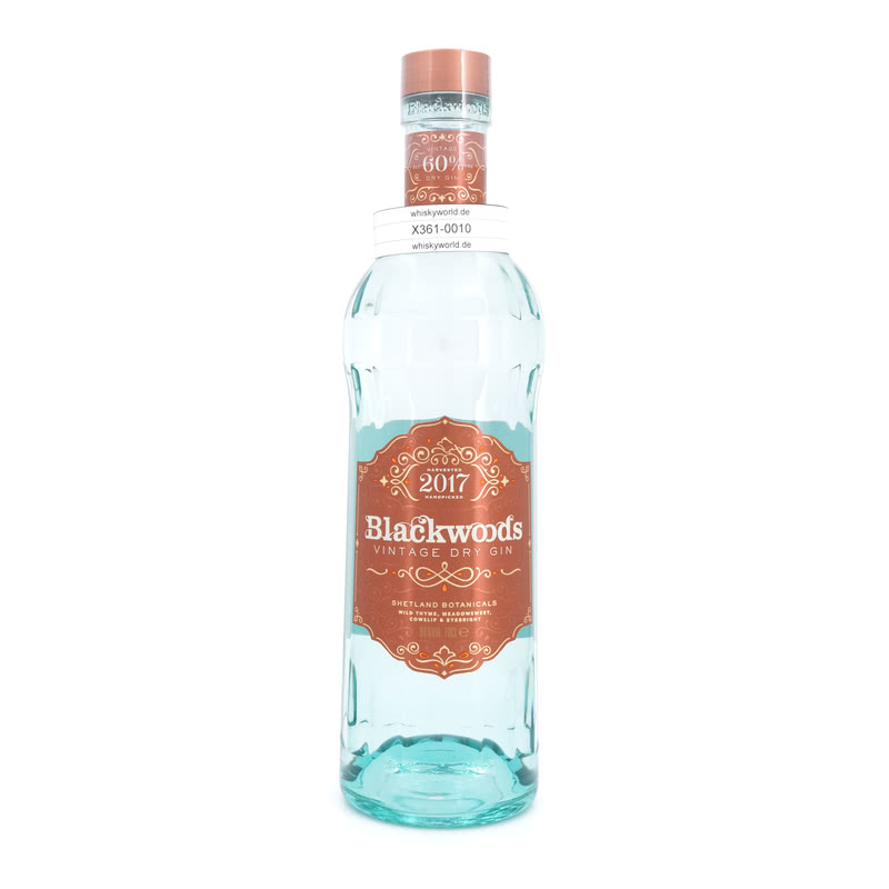 Blackwood`s Vintage Dry Gin Limited Edition Jahrgang 2017 0,70 L/ 60.00%