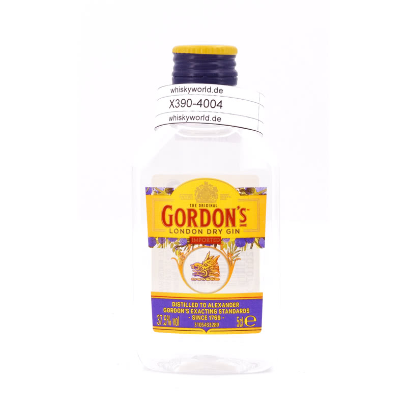 Gordon`s Gin London Dry Miniatur PET 0,050 L/ 37.50%